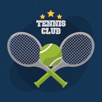 Raquete de clube de tênis cruz bola jogo concorrência