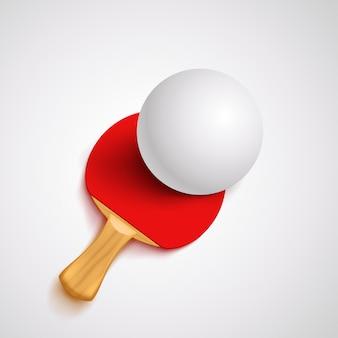 Raquete de ping pong vermelho