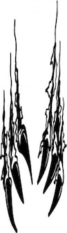 Rasga garra selvagem vetor ícone