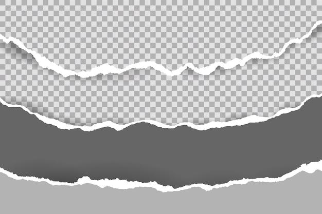 Rasgado de tiras de papel branco