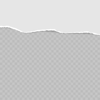 Rasgado tiras de papel cinza horizontais quadradas para texto ou mensagem.