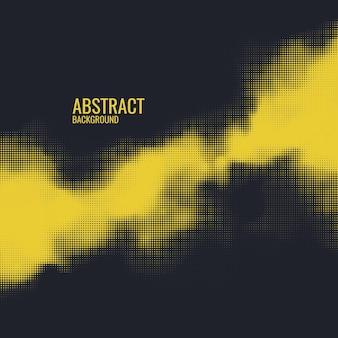 Raster de impressão monocromática, fundo de meio-tom do vetor abstrato.