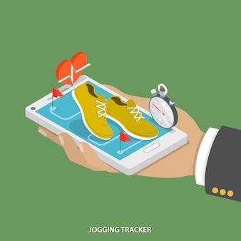 Rastreador de jogging móvel.