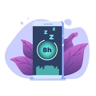 Rastreador de sono, aplicativo fitness smart phone, despertador inteligente.