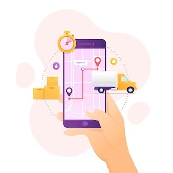 Rastreamento de entrega de pedidos usando o dispositivo móvel