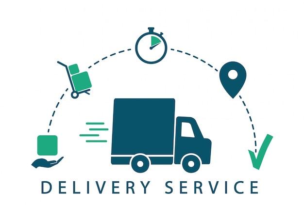Rastreamento de entrega. serviço de entrega. envio de ícones.