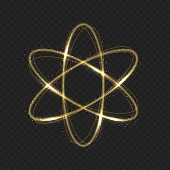 Rastreamento de rastreamento de órbita de átomo de fogo mágico brilhante