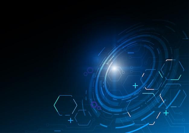 Rastreamento hexagonal, conceito de vetor de tecnologia.