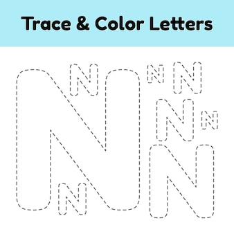 Rastrear carta de linha para crianças do jardim de infância e pré-escola. escreva e pinte.