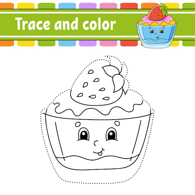 Rastrear e colorir tema de aniversário