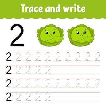 Rastrear e escrever. .