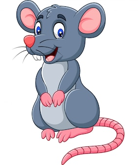 Rato engraçado dos desenhos animados
