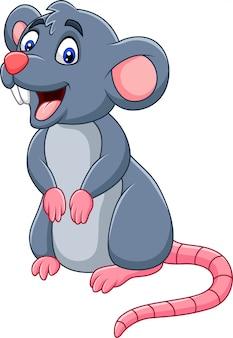 Rato feliz dos desenhos animados
