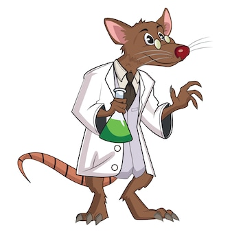 Ratos fofos vector ilustração com fundo branco