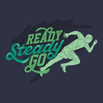 Ready stable go, corrida e citações