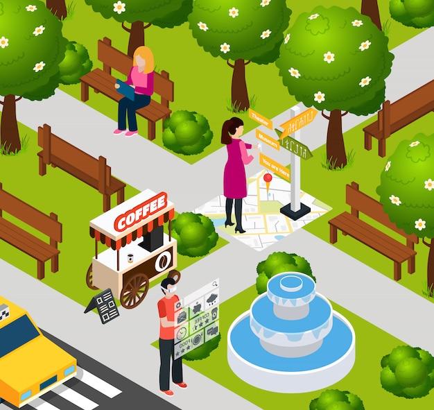 Realidade aumentada park composition