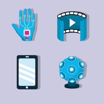 Realidade virtual com elementos de tecnologia digital