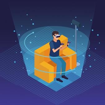 Realidade virtual e desenhos de amigos