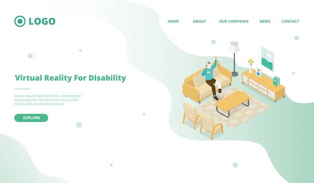 Realidade virtual vr para pessoas com deficiência