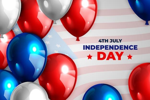 Realista 4 de julho - fundo de balões do dia da independência