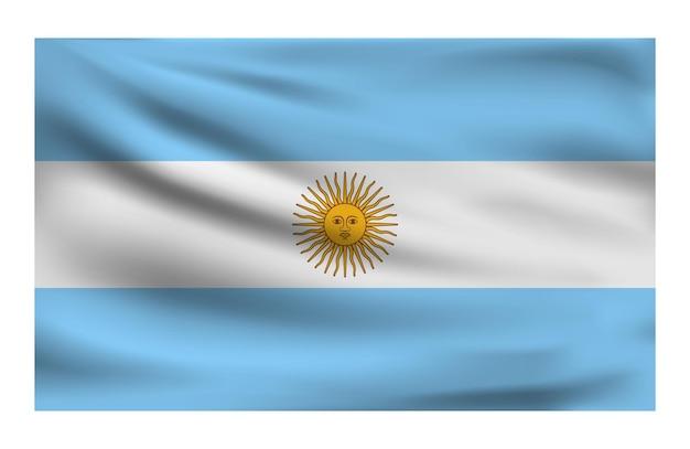 Realista bandeira nacional da argentina