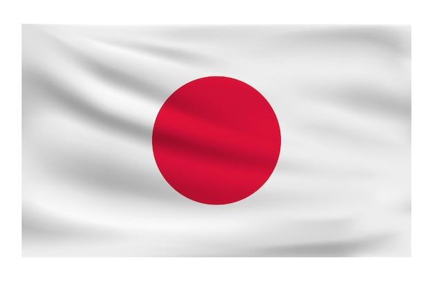 Realista bandeira nacional do japão