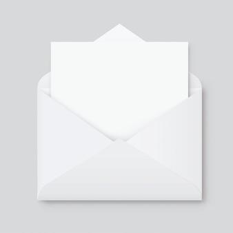 Realista em branco branco carta papel c5 ou c6 envelope vista frontal. a6 c6, a5 c5, modelo