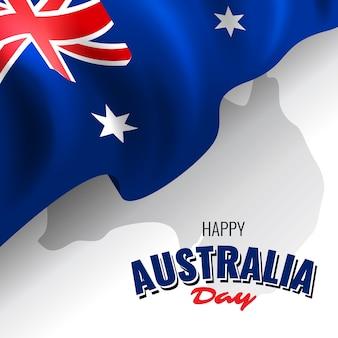 Realista feliz dia da austrália