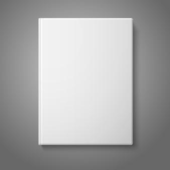 Realista frente branco em branco livro de capa dura.