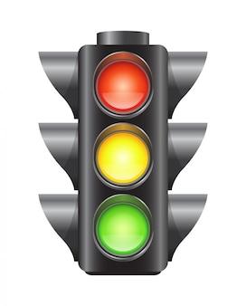Realista vetor semáforos para carros