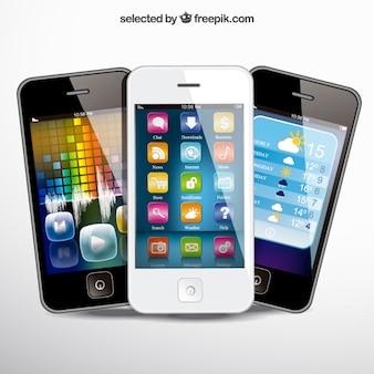 Realistas telefones móveis
