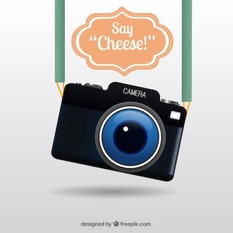 Realistic cute câmera