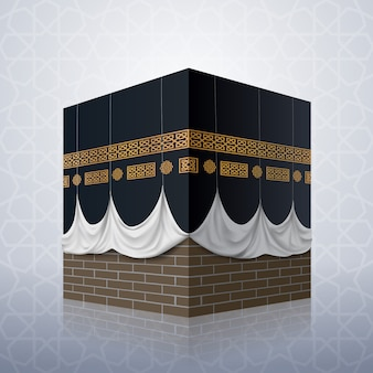 Realistic islamic icon kaaba mosque
