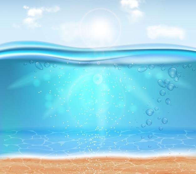 Realístico subaquático