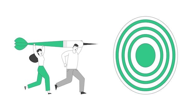 Realização da missão de pessoas de negócios e competição corporativa