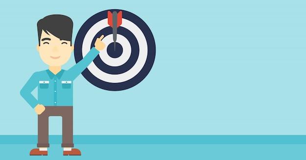 Realização de ilustração vetorial de objetivo de negócio.