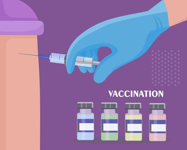 Realização de vacinações regulares contra várias doenças e o coronavírus covid19