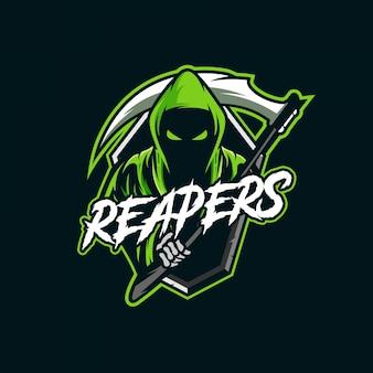Reapers mascot esport logo