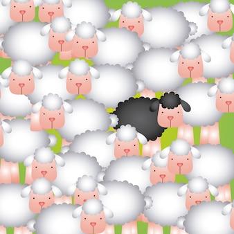 Rebanho de ovelhas design