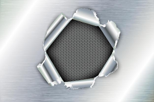 Rebites de aço rebitados e parafusos de fundo de metal.