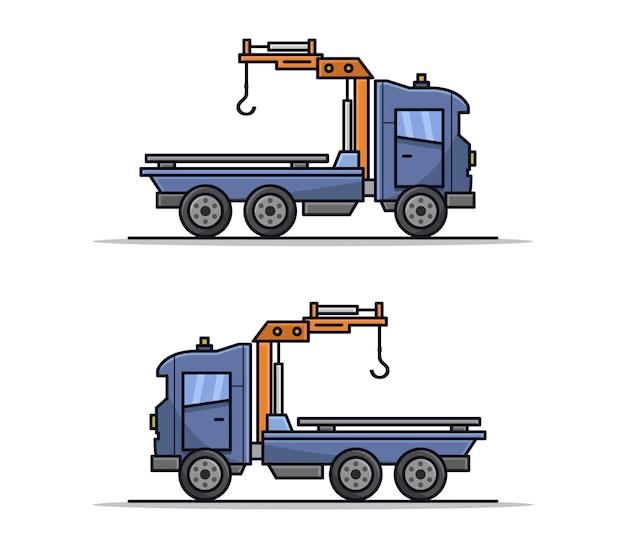 Reboque ilustrado de desenho animado