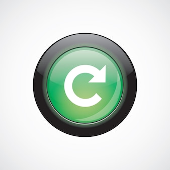 Recarregar o botão verde brilhante do ícone do sinal. botão do site da interface do usuário
