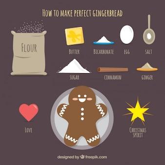 Receita agradável gingerbread