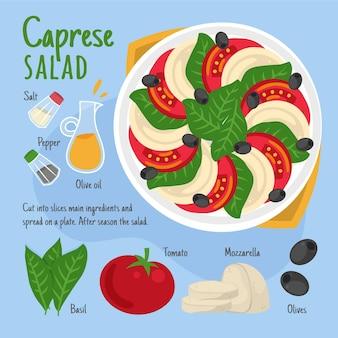 Receita com ingredientes saudáveis
