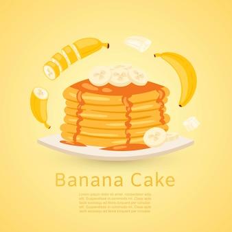 Receita de banana e panqueca com bananas