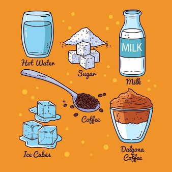 Receita de café dalgona