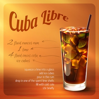 Receita de coquetel de libre de cuba
