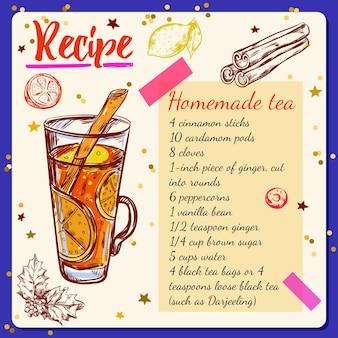 Receita de especiarias para chá