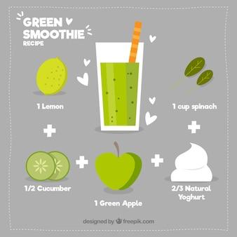 Receita do smoothie verde