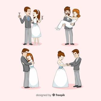 Recém-casados de desenhos animados